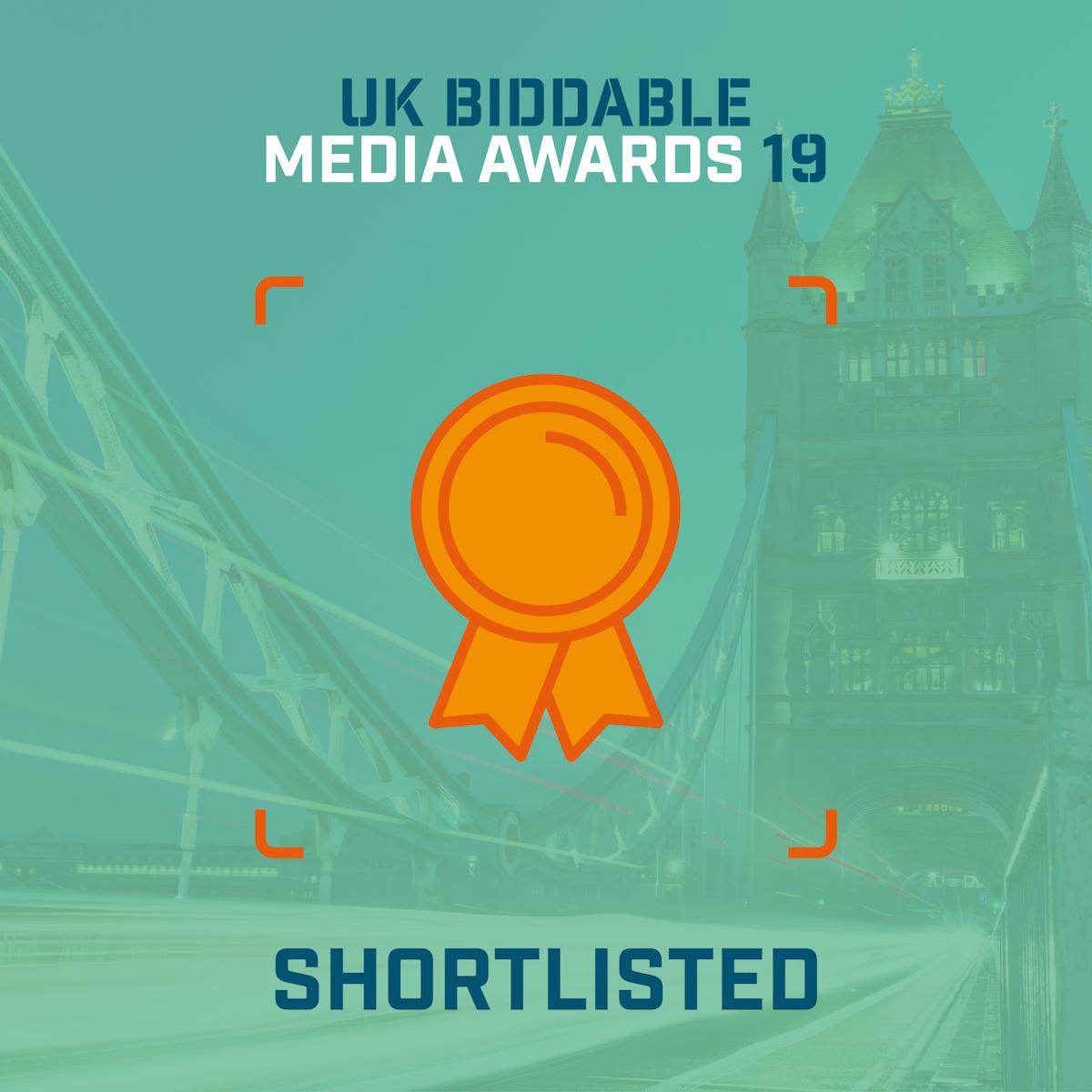 Biddable 2019 Shortlisted